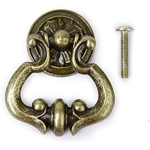 Antico Armadio Armadietto Porta Cassetto Estraibile Maniglie
