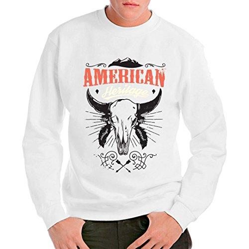 Gothic Fantasy unisex Sweatshirt - American Heritage Skull by Im-Shirt - Weiß M - American Heritage Sweatshirt