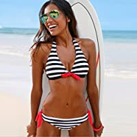 Bikini bikini rayé couleur Europe et États-Unis bikini maillot de bain couleur CUIYAN