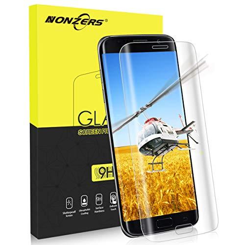 NONZERS Panzerglasfolie für Samsung Galaxy S7 Edge, Ultra-klar 3D Vollständige Abdeckung 9H Härtegrad, Anti-Kratzen, Staub,Einfaches Anbringen Bildschirmschutzfolie Schutzfolie