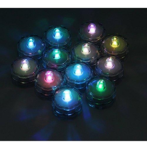 DreamTop 12pcs LED impermeable luces de té