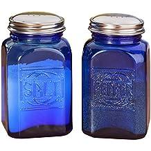 Miles Kimball depressione, blu cobalto e vetro & Salt Pepper