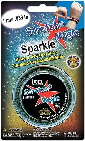 Étirer la perle magique & bijoux cordon 1mm 5 mètres/Pkg-Glitter violet clair