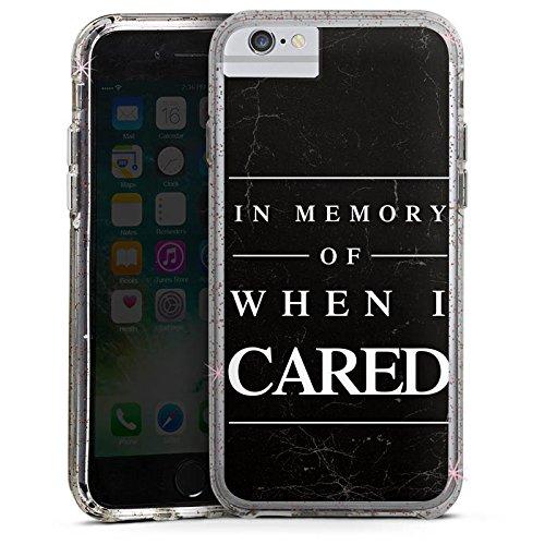 Apple iPhone 7 Bumper Hülle Bumper Case Glitzer Hülle Saying Spruch Phrase Bumper Case Glitzer rose gold