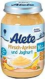 Alete Pfirsich-Aprikose und Joghurt, 6er Pack (6 x 190 g)