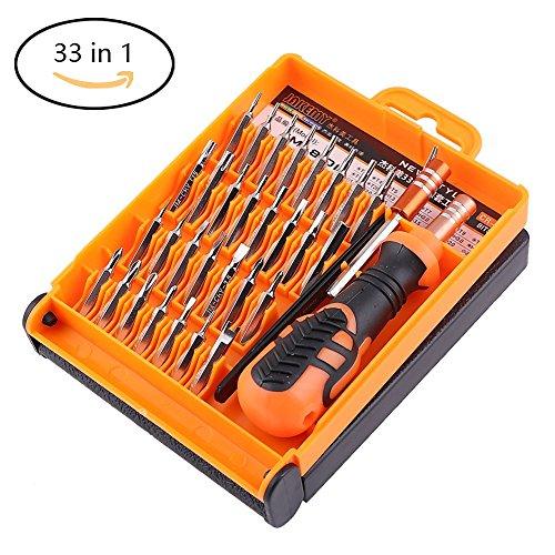 33 in 1 Feine Schraubendreher Set mini für Macbook, Handy, PC, Brillen Feinmechaniker Wartung