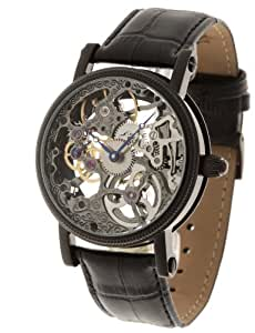 Yves Camani Herren-Armbanduhr Jules Skelett Handaufzug schwarz YC1021-C