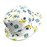 DEMU Baby Kleinkinder Fischerhut Strandhut Sommerhut Sonnenschutz Kappe Mütze (Pferd, Hut Umfang 52cm)