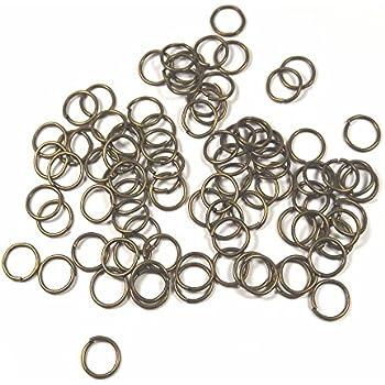 Métal Couleur Or Doré Ouverts 100 Anneaux simples 8mm Jonction Connecteurs