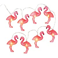 Talking Tables mix and Match Pink Flamingo string luci a LED (1.25 m) per estate o Luau, rosa