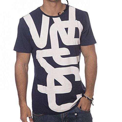 WESC Overlay Biggest T-Shirt - Peacoat, Größe M (Overlay Wesc)