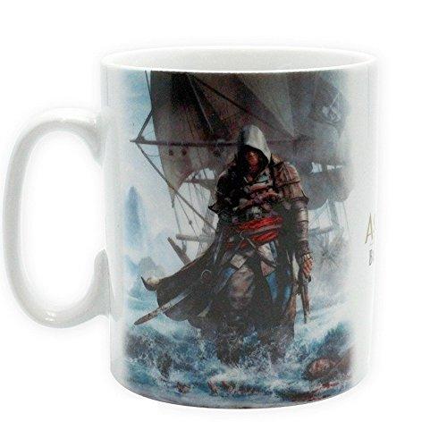 (Assassins Creed - Tasse Riesentasse 460ml - Black Flag - Edward - toll und stabil verpackt in einer Blisterbox!)