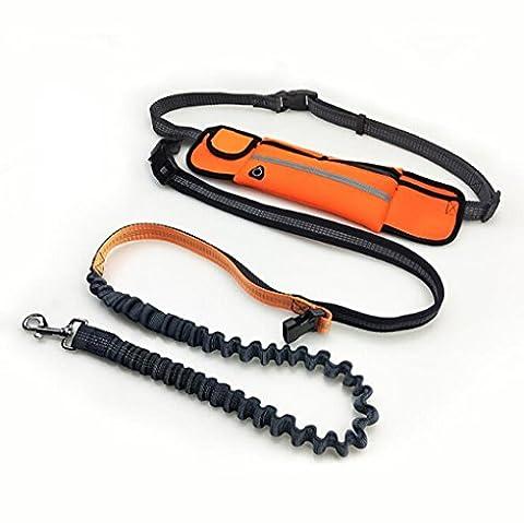 meiying Roll-Hände frei Hund Leine, wasserdichte Taschen Sports Running Traktion Seil Multi-– Funktionelle Traktion belt-applicable zu 9kg folgende (Clip Navy Tie Clip)