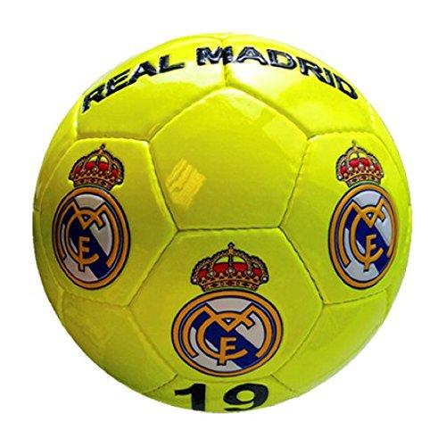 Real Madrid–Gran de balón de fútbol de amarillo neón Real Madrid