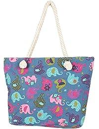 Charming Blue Contemporary Print Handbag For Mother's Day