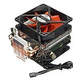 SODIAL (R) CPU Kuehler Silent Fan Fuer Intel LGA775 / 1156/1155 AMD AM2 / AM2 + / AM3