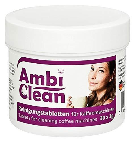 AmbiClean® Reinigungstabletten für Kaffeevollautomat und Kaffemaschine | für Privat, Büro und Gastronomie - 30 Tabletten je 2g