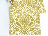 Ambiente Servietten 5 Pack je 20 Stück (=100 Stück 33 x 33 cm), Festliche Papierservietten Muster Gold, Restposten