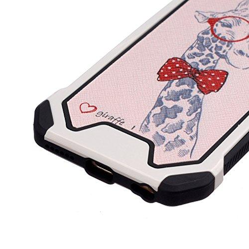 Voguecase® für Apple iPhone 6/6s 4,7 hülle,2 in 1 (Harte Rückseite) Hybrid Hülle Schutzhülle Case Cover (Frühling) + Gratis Universal Eingabestift Hirsch mit Krawatte