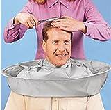 GUOQY-manteau de barbier, manteau de barbier, parapluie de robe, en nylon salon de coiffure châle coiffeur coiffeur (argent)