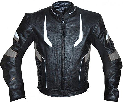 German Wear-Chaqueta de moto chaqueta de piel chopper Chaqueta Cruiser