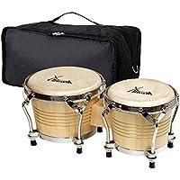 Set de XDrum Bongo Pro Natural (incl. funda de bongos)