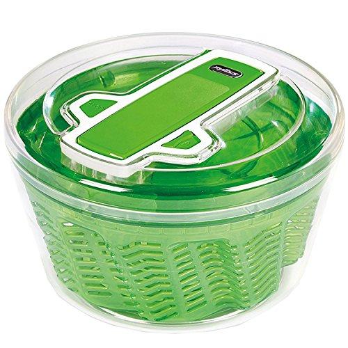 Zyliss - Salatschleuder - mit AquaVent Technologie - entfernt bis zu 25% mehr Wasser. Hohe Trockenleistung durch einfaches, manuelles Pumpen mit einer Hand. Auch als Salatschüssel geeignet.