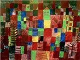 Posterlounge Alu Dibond 40 x 30 cm: Häuser mit Treppenweg von Paul Klee/akg-Images