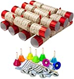 Robin Reed 229706K 35 cm Red Hand Bells Christmas Crackers (Large, Box of 8)