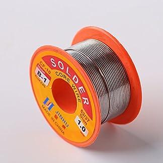Tiptiper Cable de soldadura sin plomo con núcleo de resina, Soldadura de colofonia, estaño, plomo, electrónica, hilo, soldadura, hilo, carrete, 0.5mm, 0.6mm, 0.8mm, 1.0mm