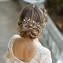 Kercisbeauty - Juego de 2 horquillas decorativas para el pelo hechas a mano para novias,