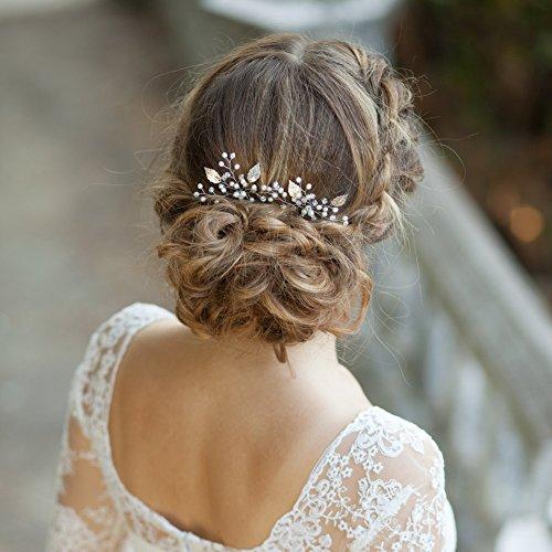Kercisbeauty - Juego de 2 horquillas para el pelo hechas a mano para novia 3eb98f9088f7