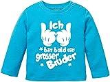 EZYshirt Ich Bin Bald ein Grosser Bruder Baby T-Shirt Longsleeve