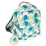 LS Design Kinderrucksack Kindergarten-Tasche Elefant Blau Grün Grau 20x28x9cm Kinder Rucksack Vorschule