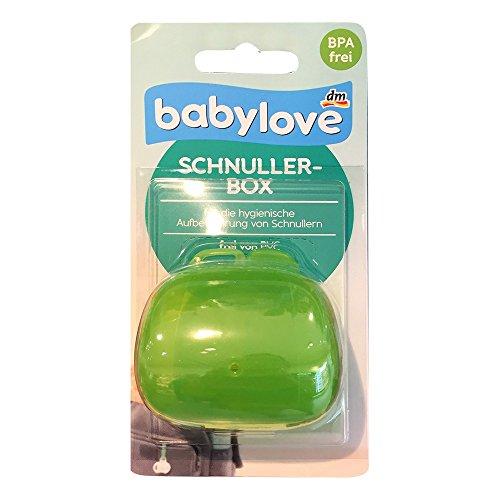 babylove Schnullerbox, für die hygienische Aufbewahrung von Schnullen, frei von PVC, grün (1 St Pack)