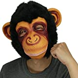 Affe Kopfmaske, Cusfull Neuheit Halloween-Kostüm Party Latex Tiermaske Affe Kopf Maske Headmaske Halloween-Party-Kostüm -