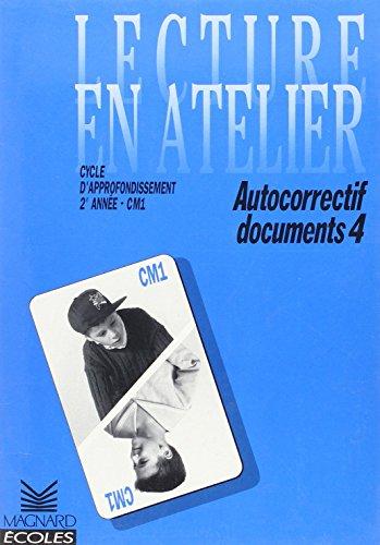 Cahier autocorrectif Documents CM1