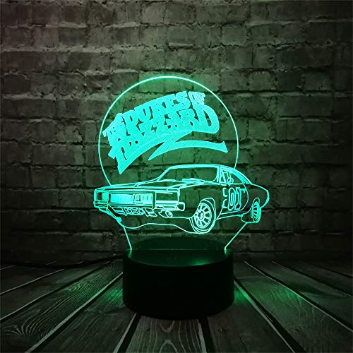 wangZJ 3d Nachtlicht / 7 Farbwechsel Beste Geschenk Nachtlicht/led Möblieren Schreibtisch Tischbeleuchtung/dekoration Spielzeug/AUTO
