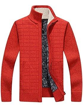Dehutin Hombres Cerrar Ajustado Prendas de punto Forro polar Suéter Abrigo de invierno Chaqueta Para los hombres