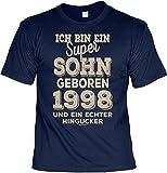 Tini - Shirts T-Shirt 20 Geburtstag - Geburtstagsshirt Sprüche Jahrgang 1998 : Ich Bin ein Super Sohn Geboren 1998 - Geschenk-Shirt Zum 20.Geburtstag Mann Gr: XL