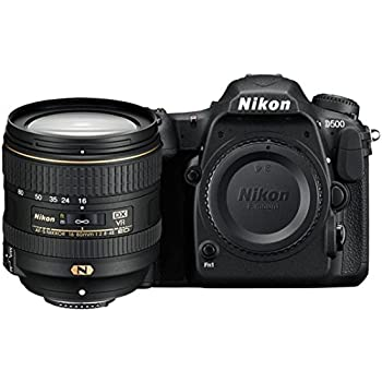 Nikon D500 20.9MP Digital SLR Camera (Black) with AF-S DX 16-80 f/2.8-4E ED VR Lens and 64 GB High Speed Sandisk Card