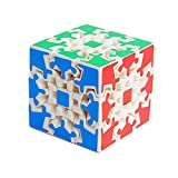 Wings of wind - Gear Cube 3x3 New Type Magic Cube, Speed Gear Cube Educación Puzzle Cube (Blanco)