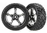 Traxxas 2479R montiert Reifen und Rad Modell Kfz-Teile, chrom, 5,6cm