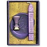 Caja Wicca con protección, con sello de cera violeta, 12x 8,5 cm