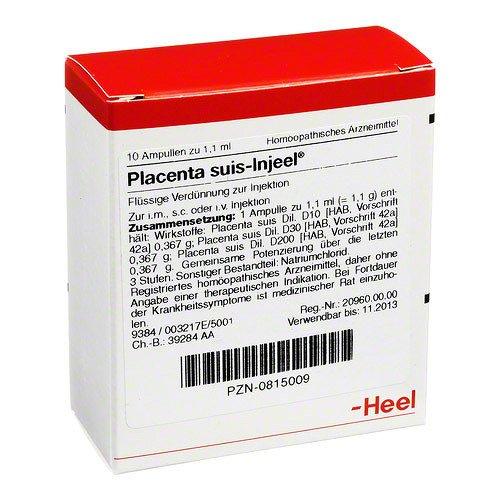 Placenta Suis Injeel Ampullen 10 stk