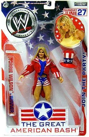 WWE Jakks Pacific Wrestling Great American Bash Pay Per View Action Figure Torrie Wilson