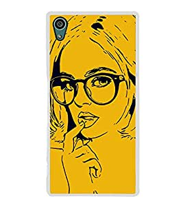 Girl with Glasses 2D Hard Polycarbonate Designer Back Case Cover for Sony Xperia Z5 :: Sony Xperia Z5 Dual
