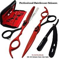 Saaqaans MSS-04 Tijeras de Peluquería Barbero Profesional Conjunto - Perfecto para Corte de Pelo