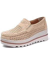 6d980084b168f Z.SUO Mocassini Donna in Pelle Scamosciata Moda comode Loafers Scarpe da  Guida