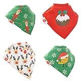 Christmas Spirit bébé Bavoir bandana–Super absorbant (lot de 4Cadeau Coffret cadeau) Unisexe,...